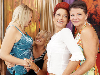 Four Old And Young Lesbians Having A Party On Bed - MatureNL cunnilingus dutch european video