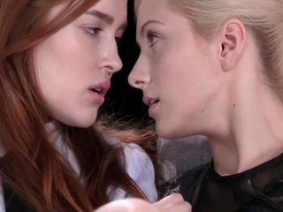 Irish Cream, Strapless Lesbian with Jia Lissa blonde lesbian lingerie video